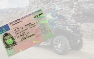 Welchen Führerschein braucht man, um ein Quad oder ATV zu fahren?