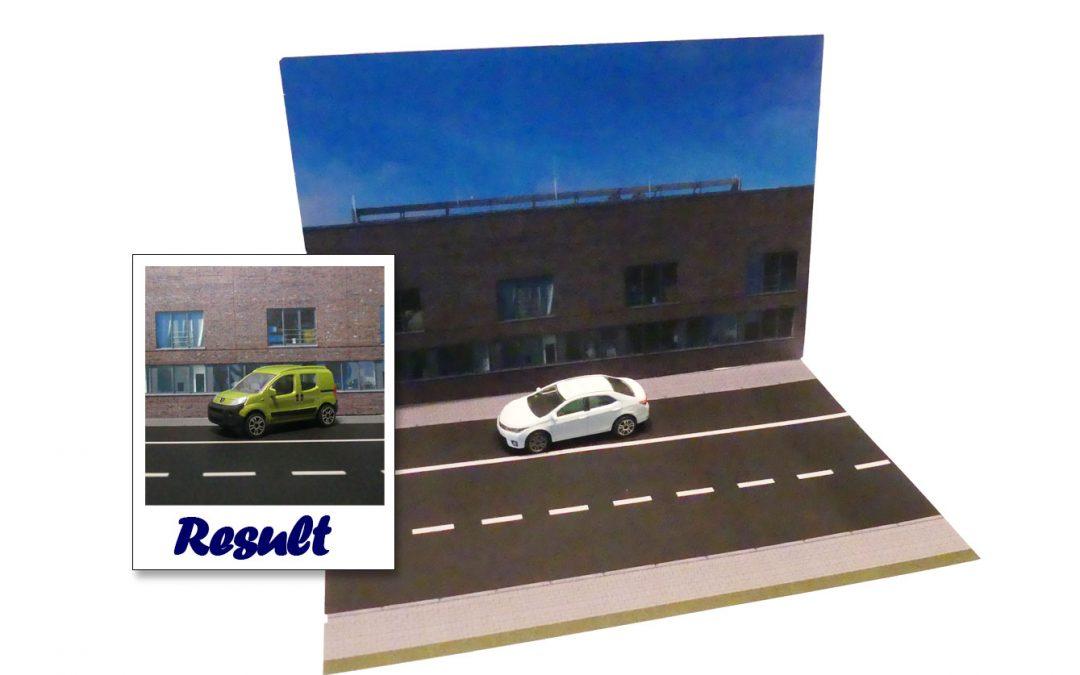 "Kostenloses Paperdiorama ""Bürogebäude"""