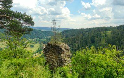 Abenteuerliche Wanderung zur Ruine Schimmelsprung