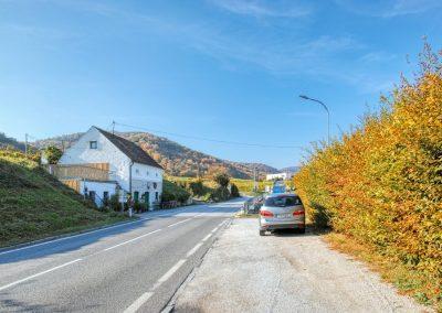 Parkplatz vor Rossatzbach