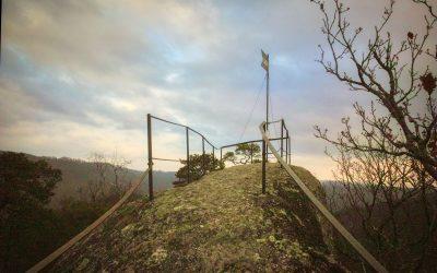 Die Hiesbergwarte bei Senftenberg – eine kurze, aber anstrengende Wanderung