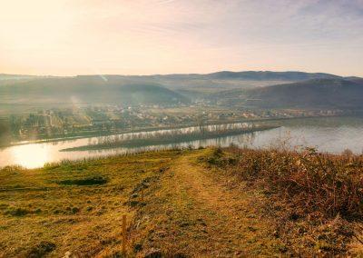 Blick vom Pfaffenberg Richtung Hundsheimer Insel