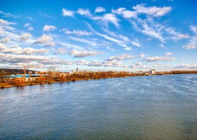 Blick Richtung Donauhafen