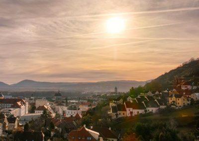 Blick auf Krems-Stein